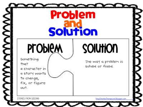 picture books to teach problem and solution 5th grade anchor charts fourth and ten