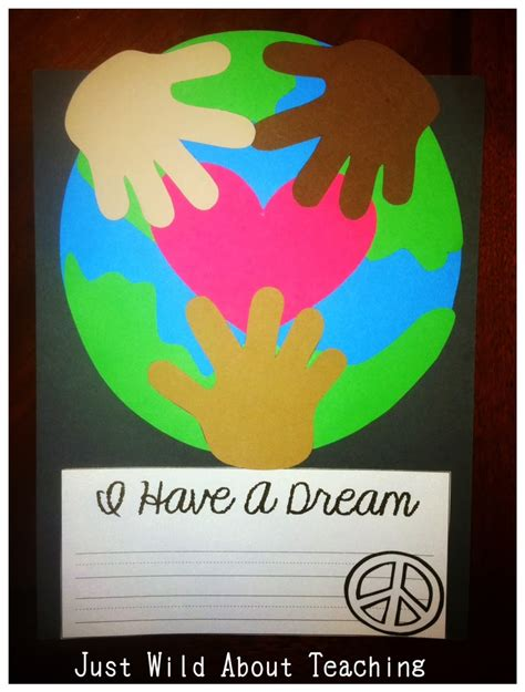 mlk crafts for just about teaching remembering martin luther king