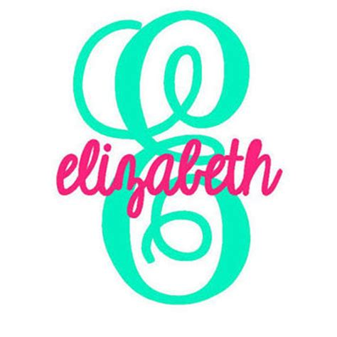 3 Letters Car Name by Shop Monogram Vinyl Car Decal On Wanelo