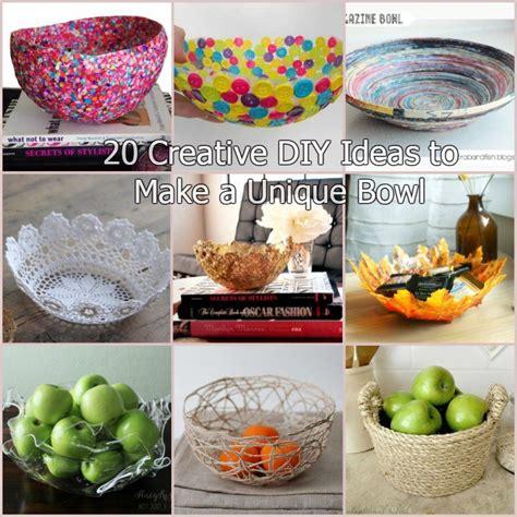 unique craft ideas for 20 creative diy ideas to make a unique bowl