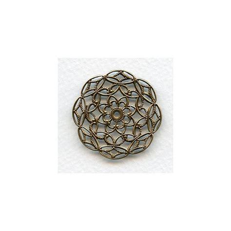 filigree jewelry supplies filigree stings oxidized brass 38mm 3