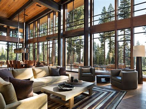 modern interior homes fabulous mountain modern retreat in the high sierras