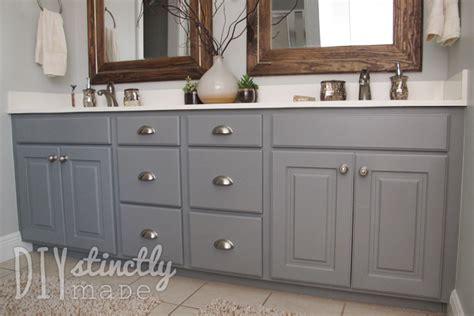 Bathroom Cabinet Paint Ideas by Painted Bathroom Cabinets Diystinctly Made