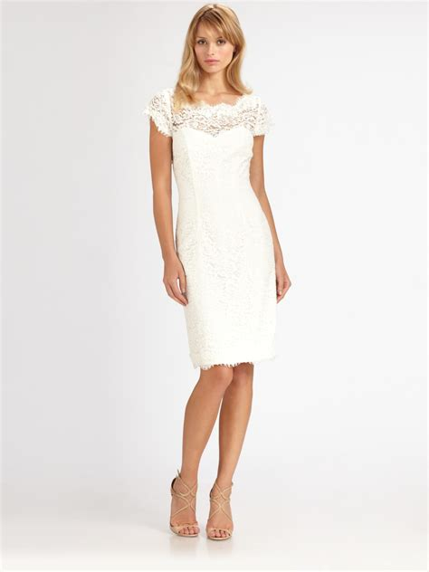 brainy mademoiselle white lace dress