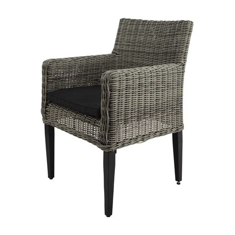 fauteuil de jardin en r 233 sine tress 233 e grise cape town maisons du monde