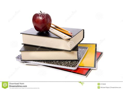 pictures on books school books with apple stock image image of apple color