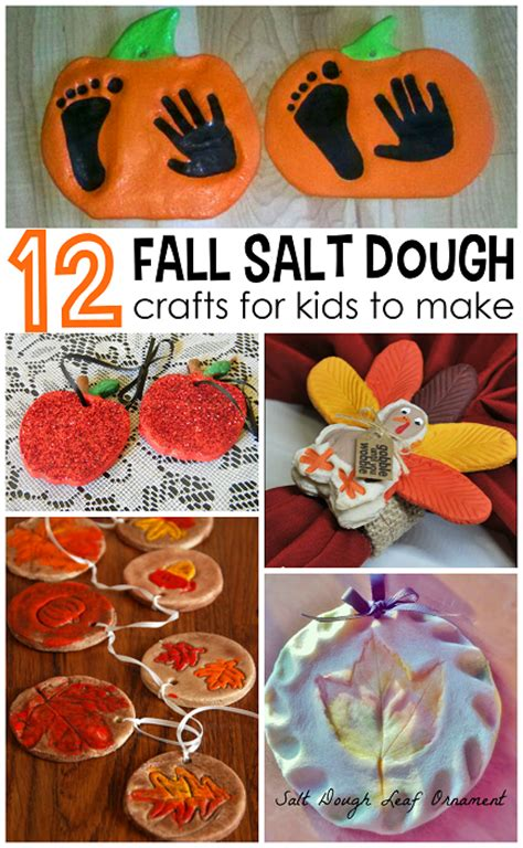 fall crafts for to make fall salt dough ornaments craft ideas crafty morning