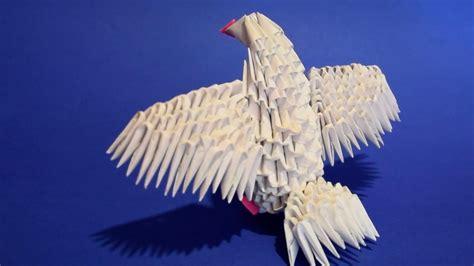 3d origami bird 3d origami bird baby dove pigeon of paper tutorial