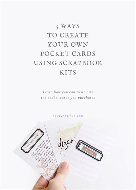 ways to make cards five ways to create your own pocket cards using scrapbook