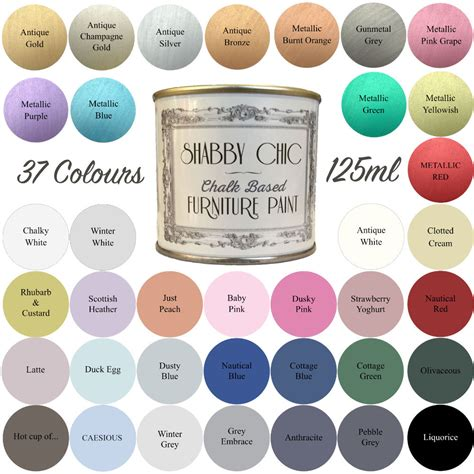 shabby chic spray paint colors shabby chic chalk paint for furniture 125ml matt finish