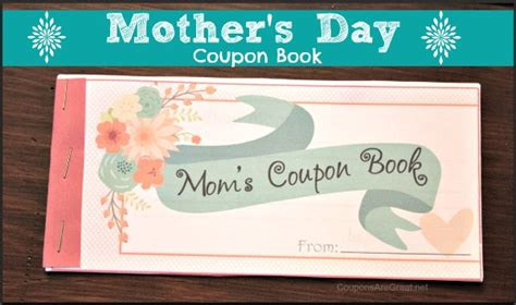 mothers day picture books gift for s day coupon book