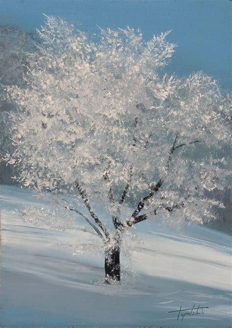 winter trees winter tree painting arts gallery original