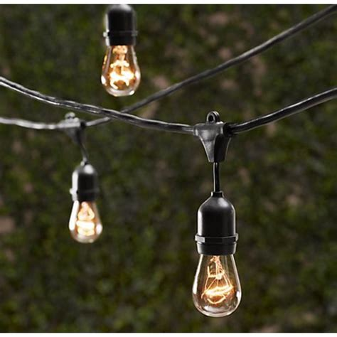 outdoor decorative patio string lights 48 ft