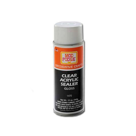 acrylic paint sealant buy mod podge clear sealer gloss 12 oz