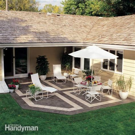modern patio tiles how to build a patio with ceramic tile the family handyman