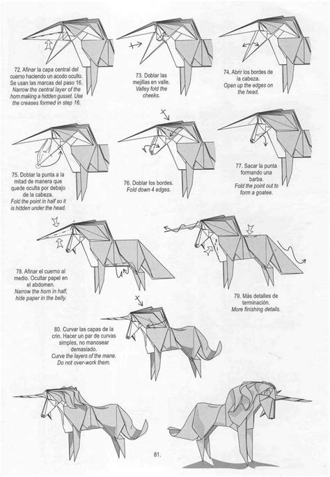 how to make an origami unicorn origami on 15 pins