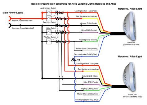 wiring lights e s s rv 14a wings lighting landing lights wiring