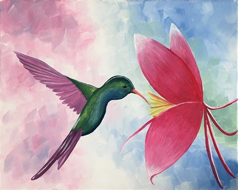paint nite east bay paint nite hummingbird in paradise