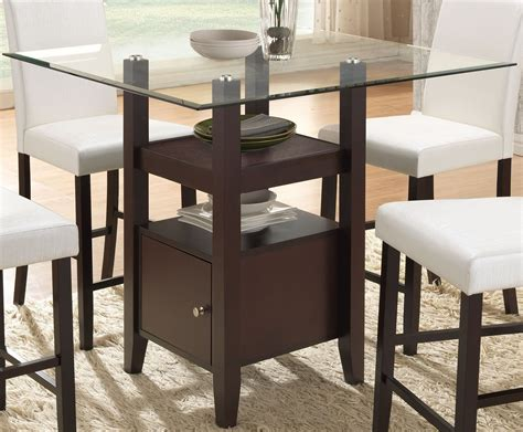 counter height dining table cappuccino glass counter height dining table