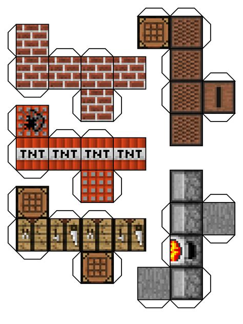 minecraft printable paper crafts free minecraft items and mobs coloring pages