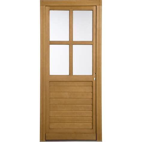 porte de service bois vichy poussant droit h 200 x l 80