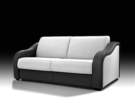 canape lit cuir design pas cher lareduc