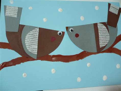 winter construction paper crafts winter paper birds family crafts