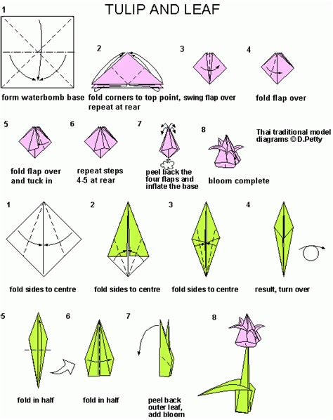 origami tulip step by step tulip origami connecting it