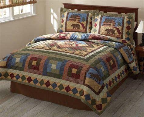 outdoor comforter sets moose lodge cabin outdoor quilt set or