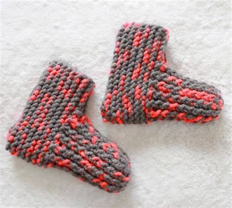 knit slippers snow day slippers knitting pattern michele
