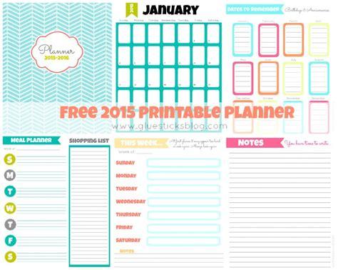 home planner free free printable 2015 planner gluesticks