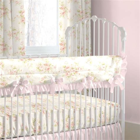 shabby chic crib bedding sets shabby chenille crib bedding pink floral baby crib