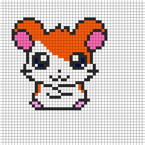 perler bead patterns hamtaro perler bead pattern bead sprites characters