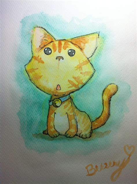 simple cat painting ideas watercolor easy cat painting by bersery on deviantart