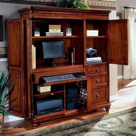 wood computer armoire flexsteel antigua wood computer armoire in cherry 7480 75