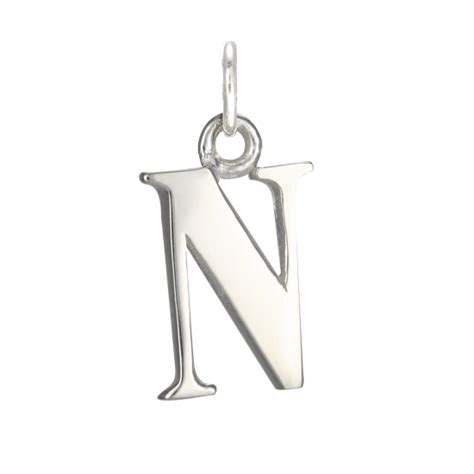 sterling silver alphabet sterling silver alphabet letter n charm