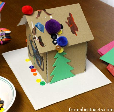 gingerbread house crafts for invitation to create cardboard gingerbread house from