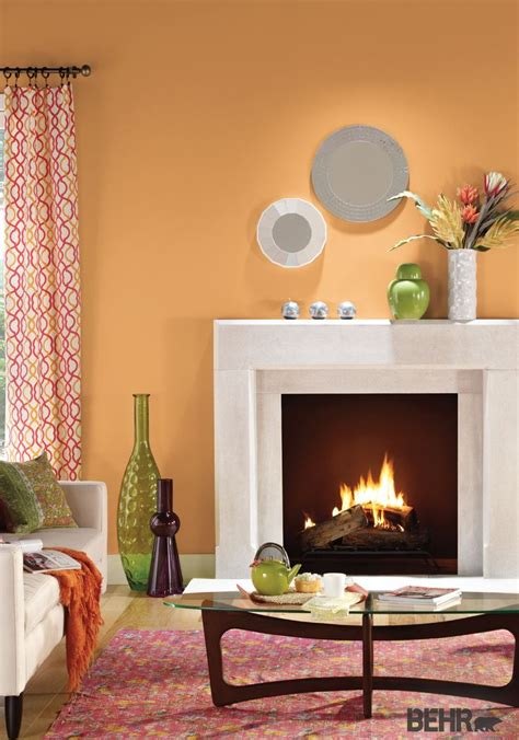 behr paint colors rooms behr paint in cheerful tangerine makes the base for this