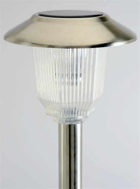homebrite solar lights set of 8 solar power olympus path stainless finished