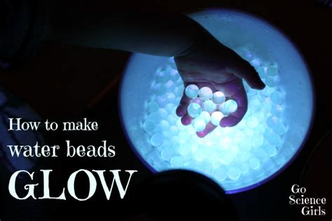 how to make glowing water how to make water glow go science