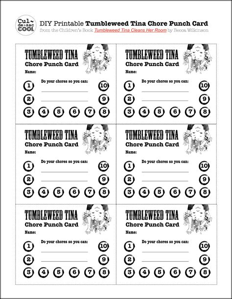 how to make a punch card 8 best images of diy printable punch cards potty