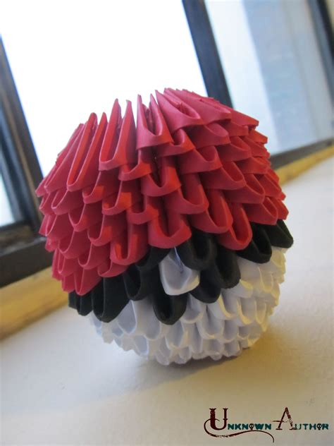 origami pokeball 3d origami pokeball by jobe3do on deviantart