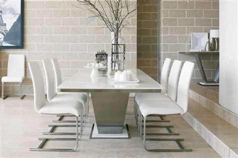 dining room table with marble top white marble dining table home furniture and decor