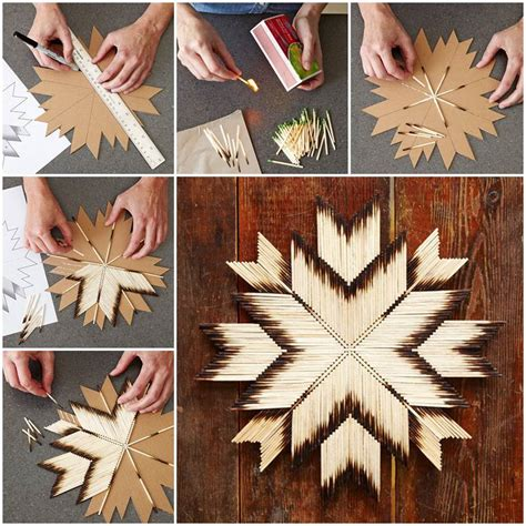 unique craft projects diy unique crafts of matches