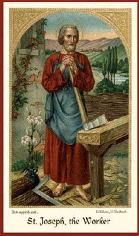 patron of woodworkers may 1 st joseph the worker on joseph
