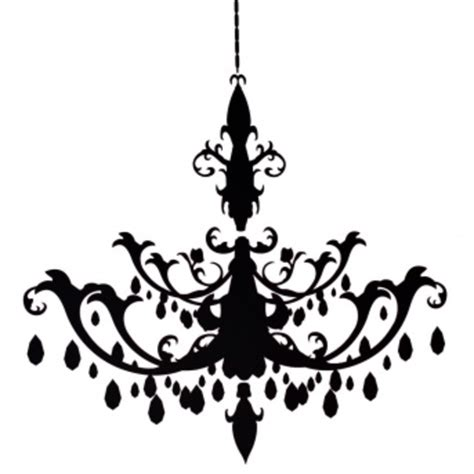 chandelier silhouette clip resize chandelier decal free images at clker