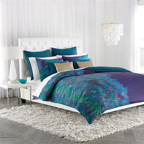 purple and green comforter set decorating the bedroom with green blue and purple