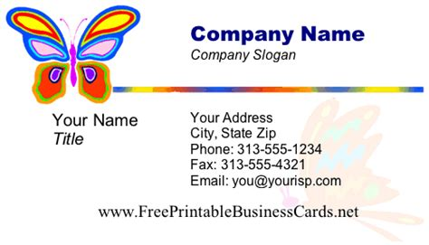 make your card for free butterfly business card