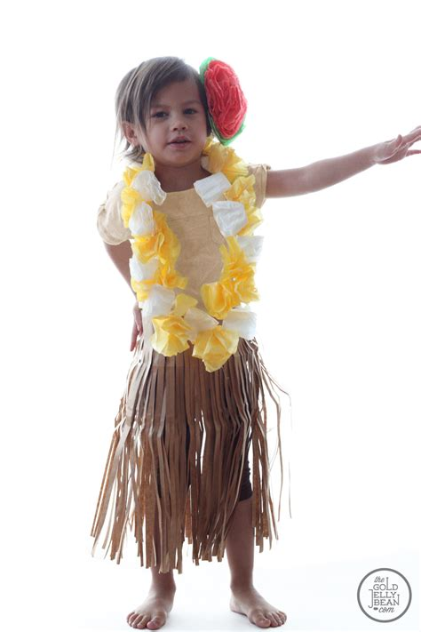 DIY Halloween Costume Winner, and Hula Girl Tutorial   The Gold Jellybean