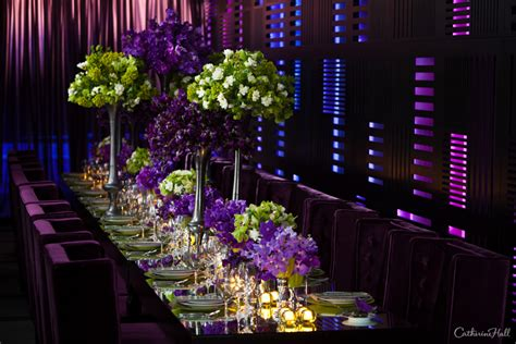purple and green decorations opulent orchids tabletop design catherine studios